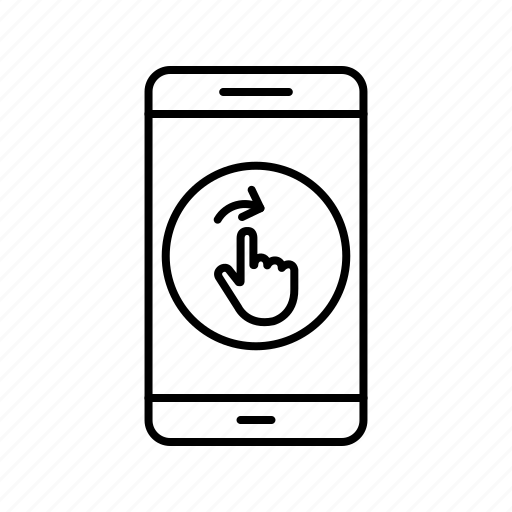 app, application, mobile, phone, swipe icon