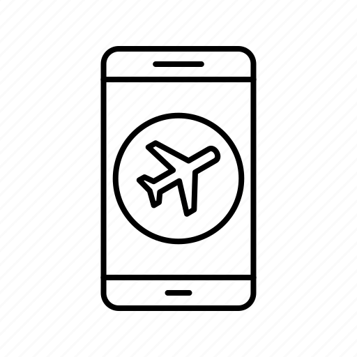 airplane, app, application, mobile, phone icon