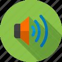 audio, loud, play, sound, speaker, volume, wave