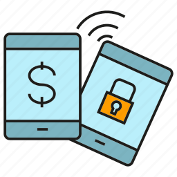 bank, finance, mobile, money, payment, security, sync icon