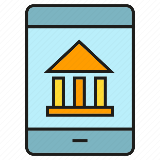 bank, finance, mobile, money, payment, smart phone icon