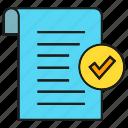 document, paper, receipt, security, tick