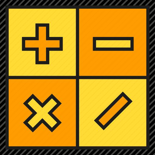 calculator, compute, maths icon