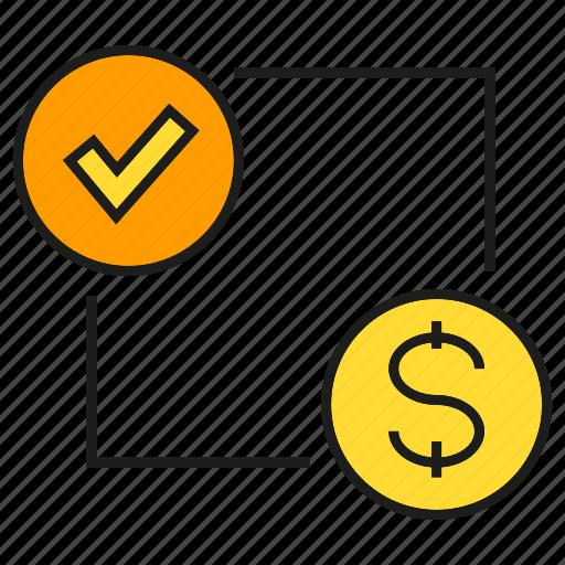 coin, dollar, finance, money, security icon