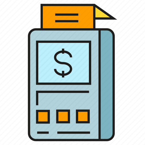 cashier, check, payment, receipt, shop icon