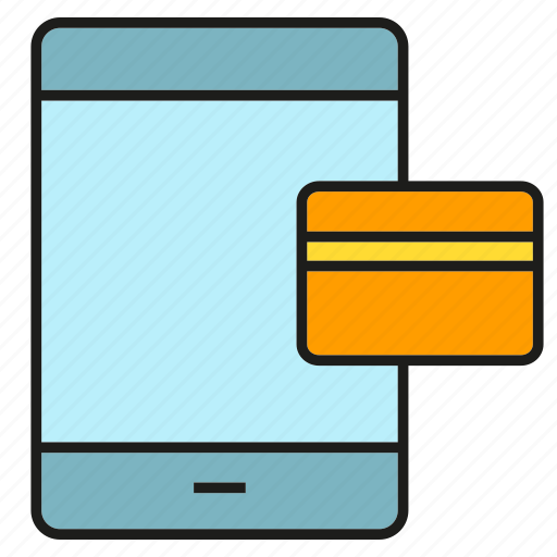 bank, credit card, finance, mobile, money, payment, smart phone icon