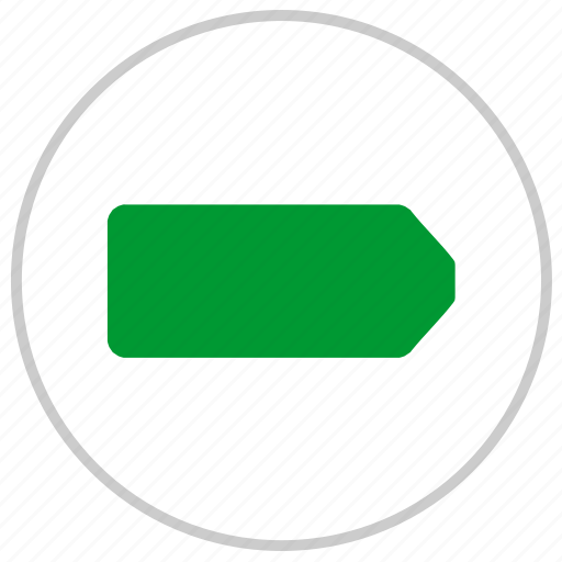 battery, charge, energy, full, label, mobile, round icon