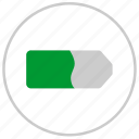 battery, charge, label, mobile, round