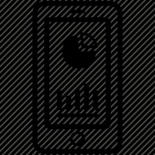 app, application chart, chart, data chart, mobile, phone icon