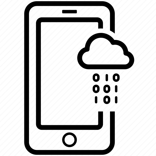 cloud, data, download, mobile, transfer, upload, usability icon