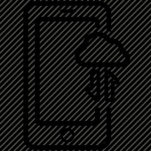 cloud, data, mobile, send, transfer icon