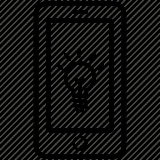brilliant, idea, mobile, mobile ideas, phone idea, talk ideas icon