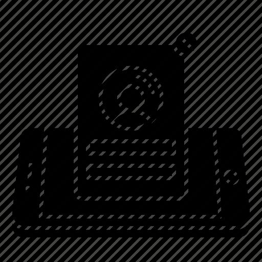 card, concept, mobile, profile, user icon
