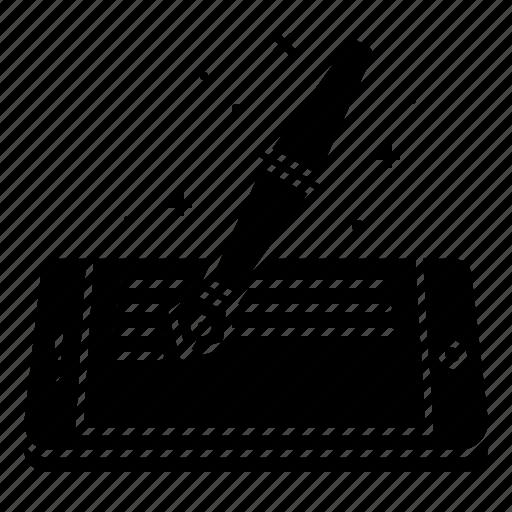 artical, blog, concept, fountain, ink, mobile, pen icon