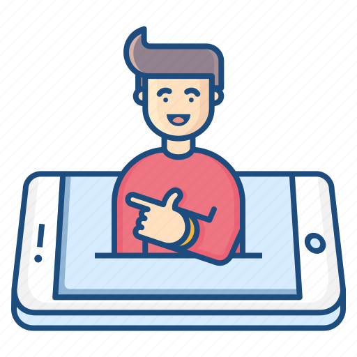 avatar, concept, conceptualization, feeling, gesture, mobile, smile icon