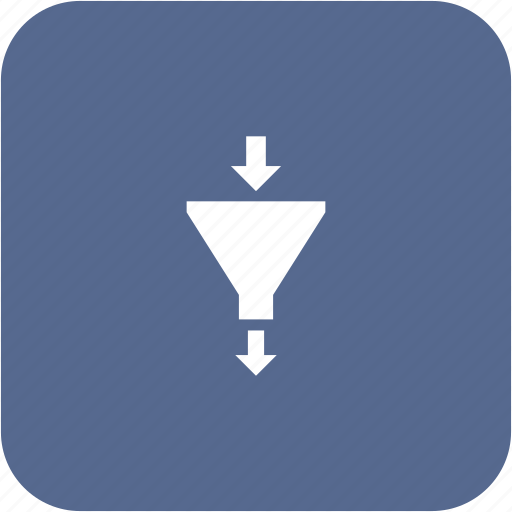 conversion, filter, funnel, sort icon