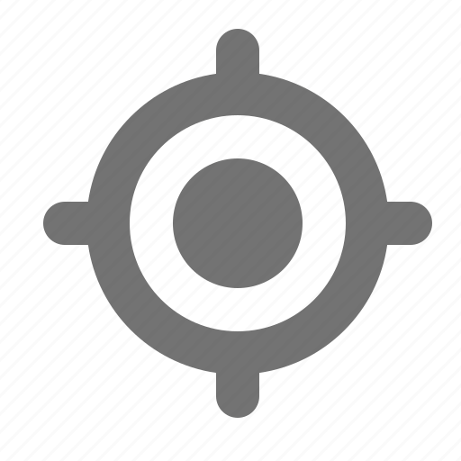 aim, gps, location, positioning, target, tracking icon