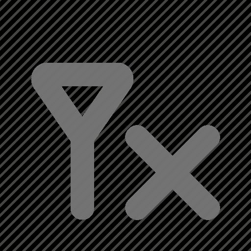 cross, no signal, reception, signal icon