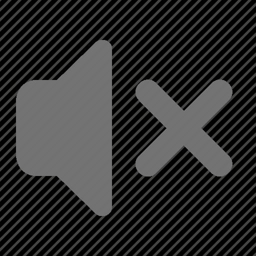 audio, cross, mute, silent, speaker, volume icon