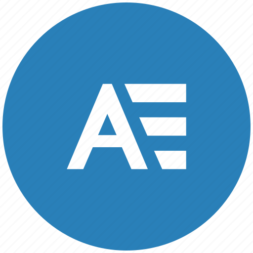 a, address, book, glossary, letter, round icon