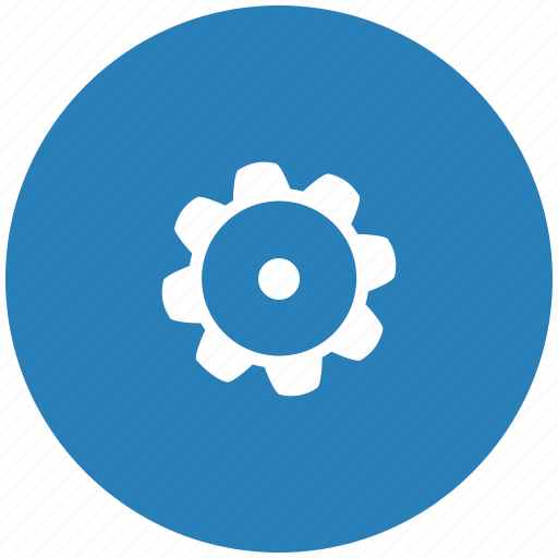 detail, gear, part, repair, round icon