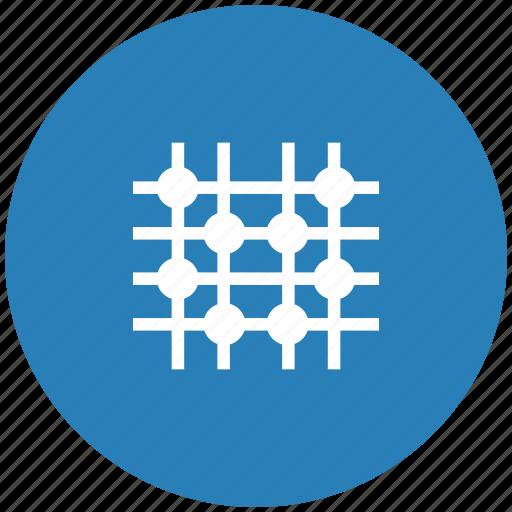 dot, grid, image, round, transform icon