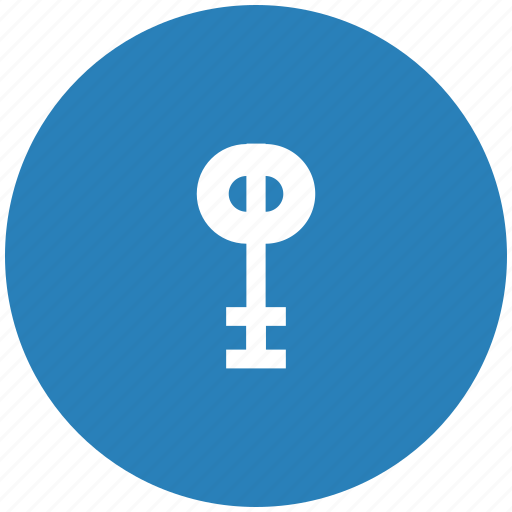 access, key, lock, locker, round icon