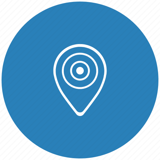 dot, location, map, place, pointer, round icon