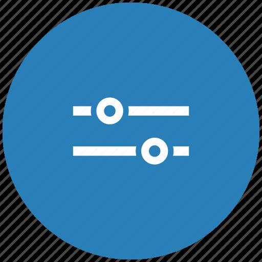 configuration, control, option, round, settings icon