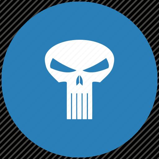 death, face, round, skull icon