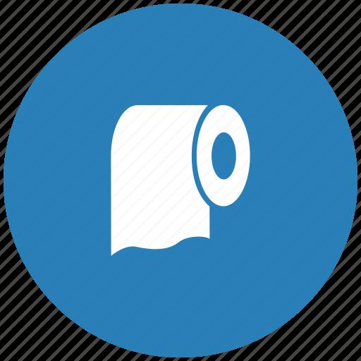 clean, paper, round, toilet icon