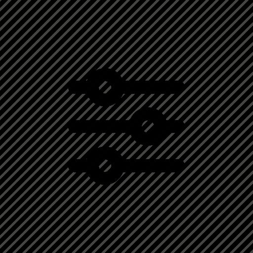 equalizer, filter, filtering, refine, sort, sorting icon