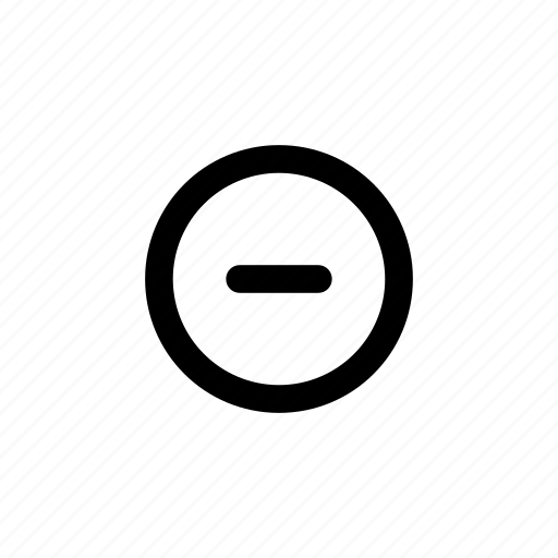 close, delete, minus, reduce, remove, subtract icon