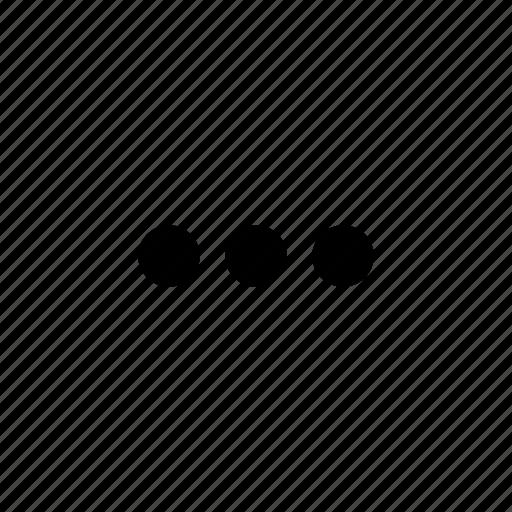 circles, dots, menu, more, options icon