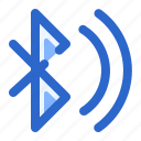 bluetooth, connection, mobile, network, on icon