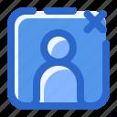 contact, friend, person, remove icon