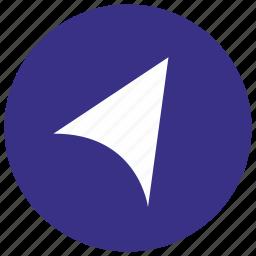 gps, move, navigator, point icon