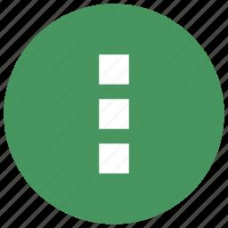 menu, mobile, vertical icon