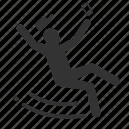 careless, caution, hazards, mobile addict, slip icon
