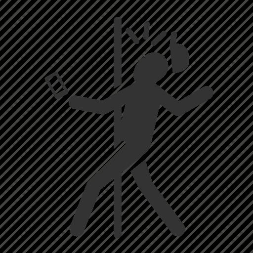 careless, caution, crash, hazards, hit, mobile addict icon