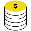 coins, database, dollar, financial database, money, savings