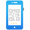 mobile application, mobile insurance, protection, qr code, scanning, smartphone icon
