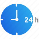 availability, help, hours, service, support, time icon