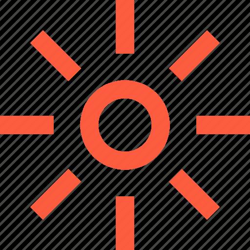 brightness, decrease, down, level, mobile, regulation, solar, sun icon