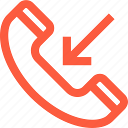 call, communication, conversation, handset, incoming, mobile, phone, telephone icon