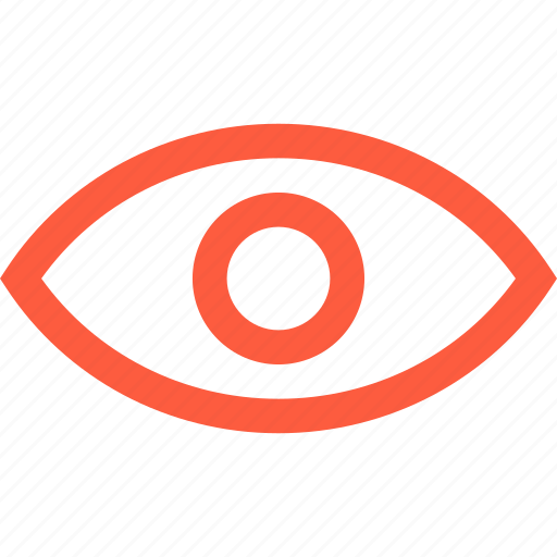 eye, eyesight, look, see, sight, view, vision icon