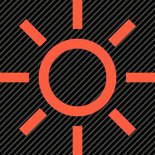 brightness, increase, level, mobile, regulation, solar, sun, up icon