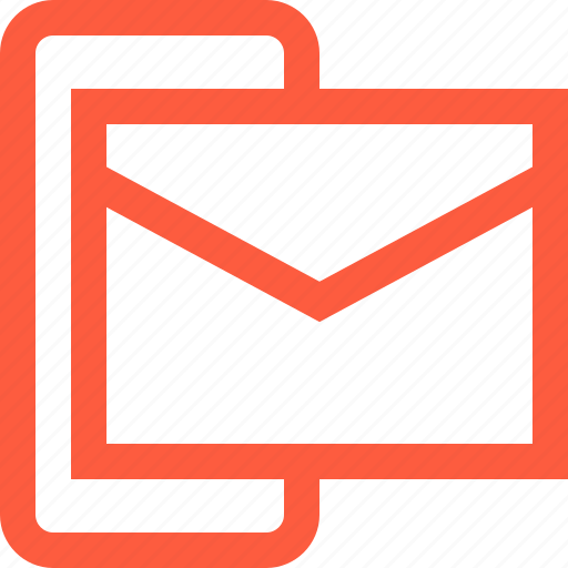 communication, email, inbox, letter, mail, message, mobile icon