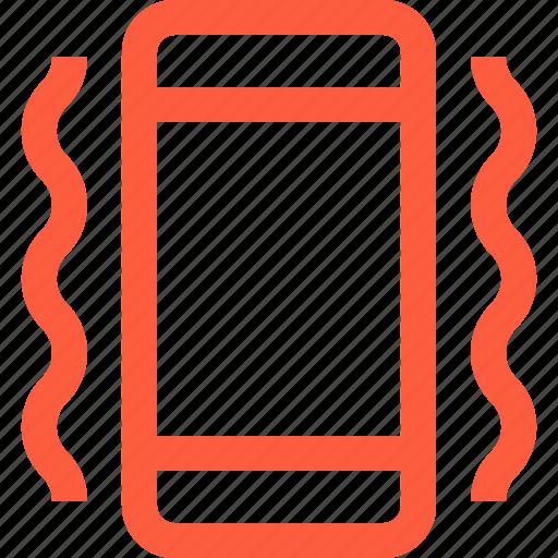 calling, mobile, mode, phone, signal, smartphone, vibrating, vibration icon