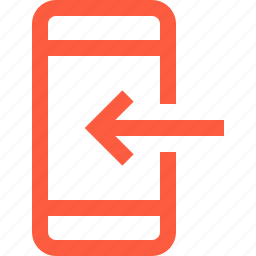 download, import, incoming, mobile, phone, receive, smartphone icon